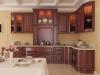 Кухня Мария угловая из массива дерева бархатных оттенков