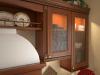 Кухня Сара угловая из массива коричневого цвета с закрытым отдельным столом