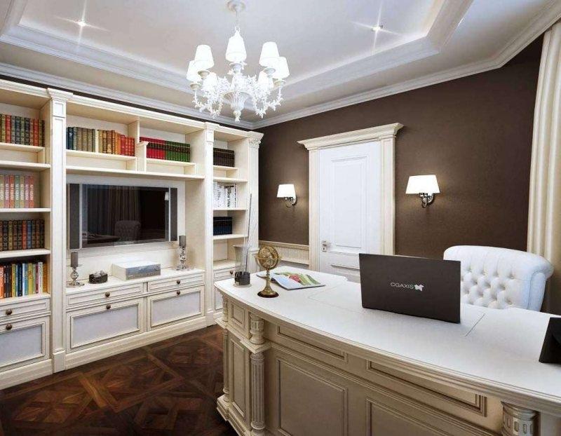 потолок для кабинета квартиры фото время пряники делали