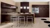 Кухня Илларион коричневого цвета с белой столешницей