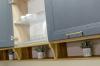 Кухня Лени угловая белого цвета с обеденным столом