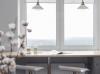 Кухня Дору из массива в стиле классика с карнизами с линейным расположением по двум стенам