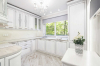 Кухня Калина в стиле прованс белого цвета с серой столешницей