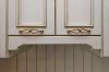 Кухня Климентина П-образная белого цвета с барной стойкой