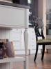 Кухня Март угловая белого цвета с черной столешницей