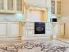 Кухня Прованс угловая белого цвета с черной столешницей