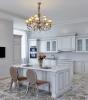 Кухня Сабрина с плавными формами в белом цвете с декоративными элементами