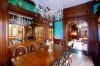 Кухня Фергана угловая фиолетового цвета со стеклом