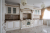 Кухня Элеганс угловая белого цвета из массива