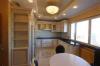 Кухня Эталон угловая золотых оттенков из массива дерева