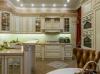 Кухня Эрида угловая белого цвета с карнизом и встроенной подсветкой