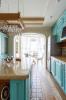 Кухня Эльдорадо угловая коричневого цвета с белыми фасадами