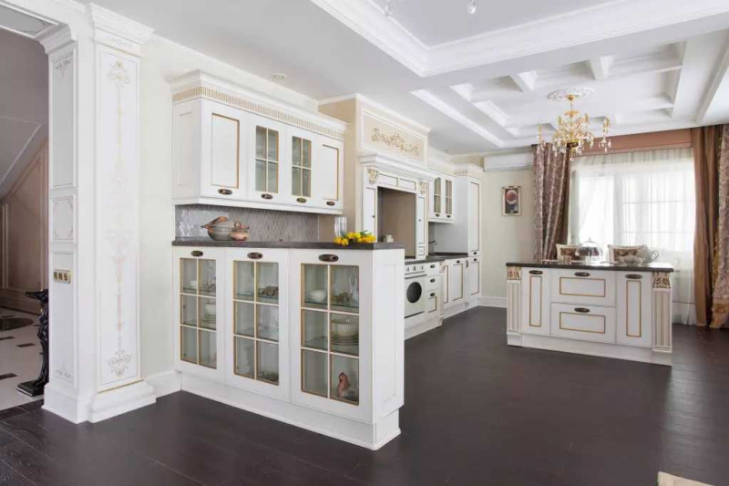 Купить Кухня Альфреда в современном стиле белого цвета  под заказ
