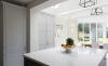 Кухня Альпина в стиле модерн со столешницей из керамики