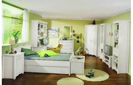 Купить Детская Аманда белого цвета из множества отдельных модулей с выдвижными ящиками  под заказ