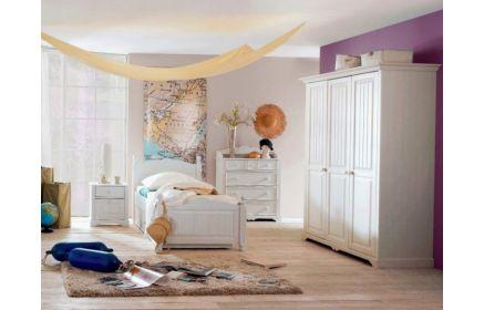 Купить Детская Ария в классическом белом стиле с комодом и шкафом  под заказ