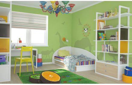 Купить Детская Джустин стильная в разноцветном исполнении со столом и кроватью  под заказ
