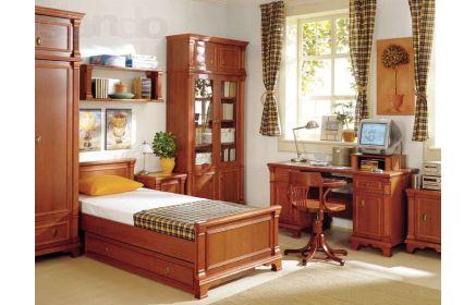 Купить Детская Друид в классическом стиле коричневого цвета два шкафа со столом и кроватью под заказ