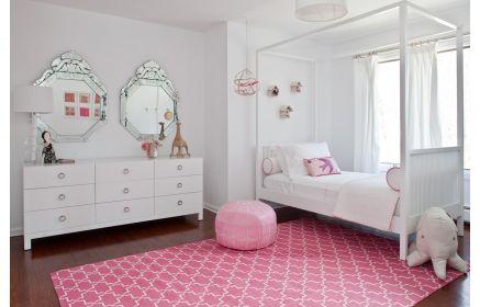 Купить Детская Дюймовочка в белом цвете в комплекте с комодом и кроватью  под заказ
