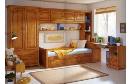 Купить Детская Химираги в классическом стиле коричневого цвета со столом и кроватью  под заказ