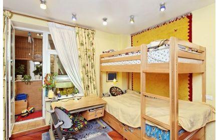 Купить Детская Карлсон в современном стиле со столом и двухэтажной кроватью  под заказ