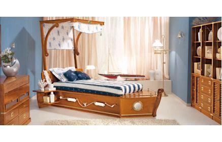 Купить Детская Круиз коричневого цвета с кроватью в стиле лодки  под заказ