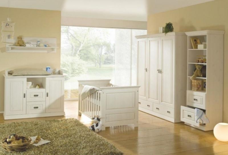 Детская Нейл в белом цвете со шкафом и детской кроваткой