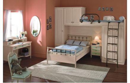 Купить Детская Подружки в светлых тонах в комплексе со шкафом и кроватью  под заказ