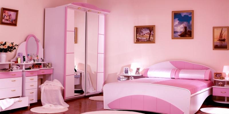 Детская Повелительница стихий для комнаты девочки в нежном розовом цвете