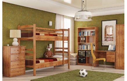Купить Детская Сафари в коричневом древесном цвете с двухэтажной кроватью  под заказ