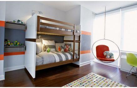 Купить Детская Шалун в современном стиле с двухэтажной кроватью   под заказ