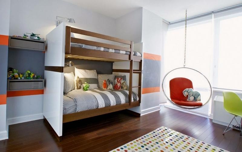 Детская Шалун в современном стиле с двухэтажной кроватью