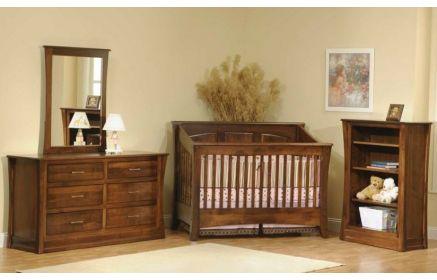 Купить Детская Вилда из массива дерева темно-коричневого цвета на 3 предмета с кроватью под заказ