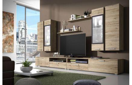 Купить Гостиная Бриньоль современная и стильная из трех отдельных модулей и двух подвесных полок  под заказ