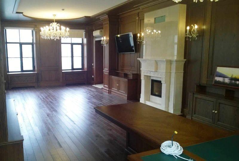 Гостиная Ленто встроенная классического стиля из массива дерева