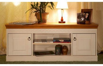 Купить Гостиная Отдых стильная двух-цветная с двумя шкафчиками и полками по центру   под заказ