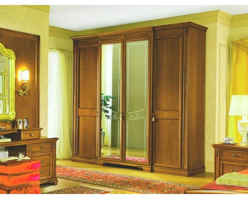 Гостиная Пелагея из массива бука с прочным шкафом в классическом стиле