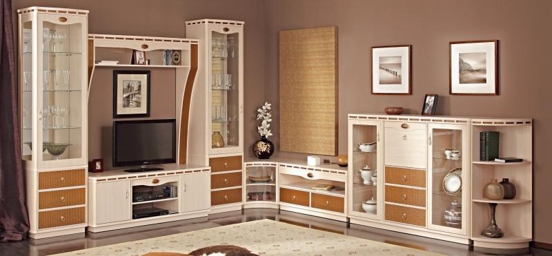 Гостиная Рита в современном стиле с местом для телевизора