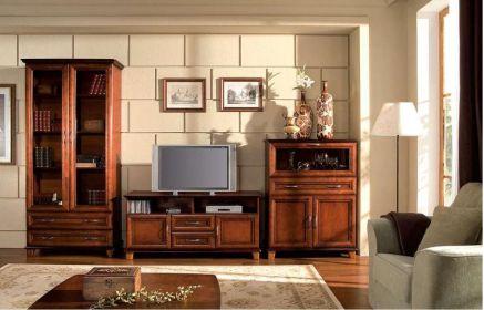 Купить Гостиная Родез в классическом стиле темно-коричневого цвета из трех отдельных модулей  под заказ