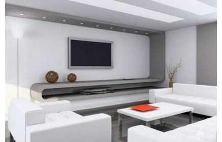 Купить Стенка Камелия с верхней подсветкой 1 модуль серый цвет под заказ