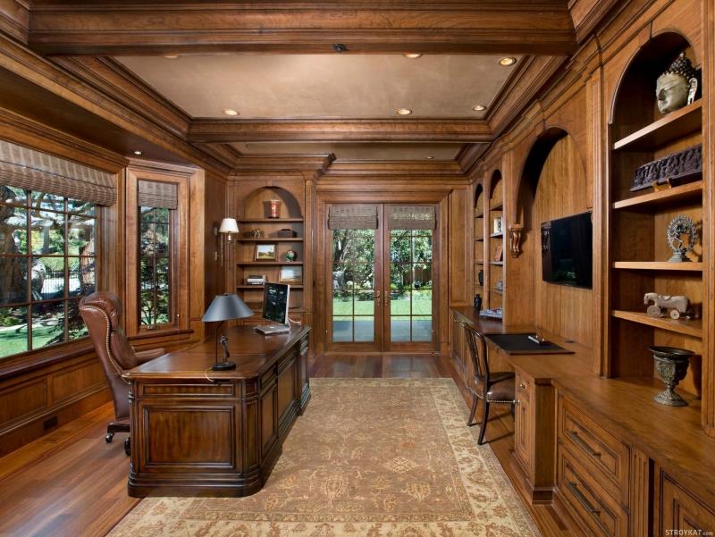 Кабинет Престиж в классическом стиле с местом для телевизора