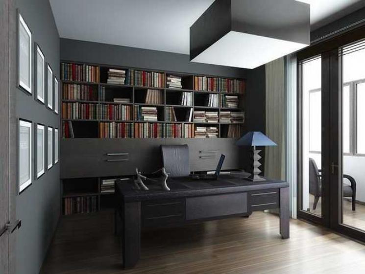 Купить Кабинет Пропорция в современном и стильном исполнении серого цвета разных оттенков   под заказ