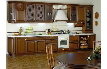Купить Кухня Марго прямого типа коричневая в стиле современной классики  под заказ