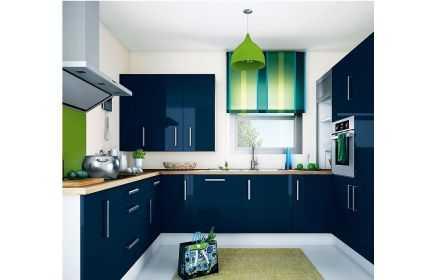 Купить Кухня Моби-Дик П-образная в стиле модерн с глянцевой поверхностью  под заказ