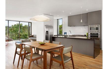 Купить Кухня Оливер в стиле модерн серого цвета с глянцевой столешницей  под заказ