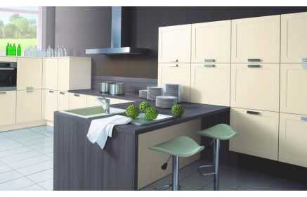 Купить Кухня Смит Т-образная в современном стиле с множеством шкафов  под заказ