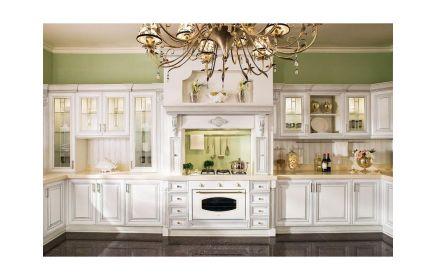 Купить Кухня Вера в стиле прованс белого цвета симметричная П-образная  под заказ