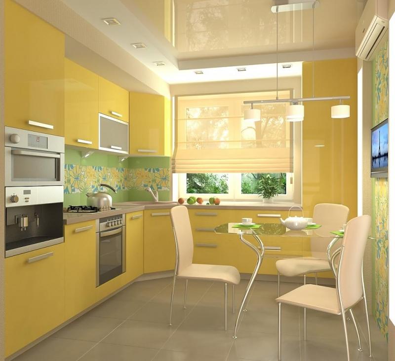 лучшие фото желтых кухонь суда