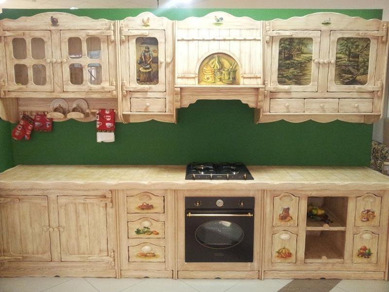Купить Кухня Верослава с фигурными вырезами дерева со встроенной плитой  под заказ
