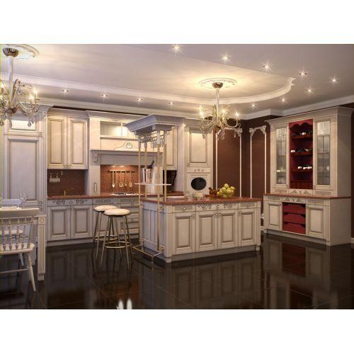 Кухня Ярослав классического стиля в белом цвете